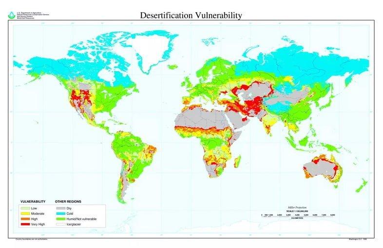 Глобальная карта опустынивания