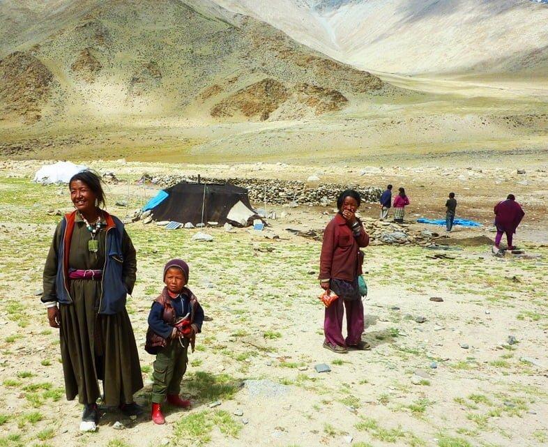 Кочевники на Чангтане, Тибет