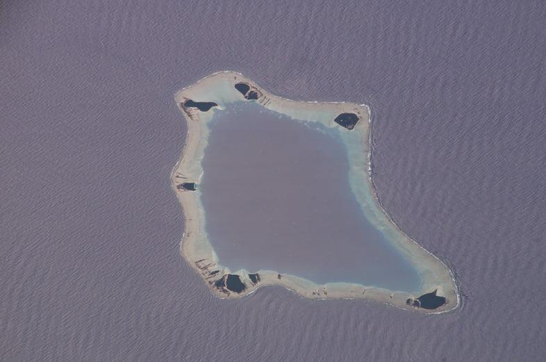 Вид с воздуха на остров Палмерстон