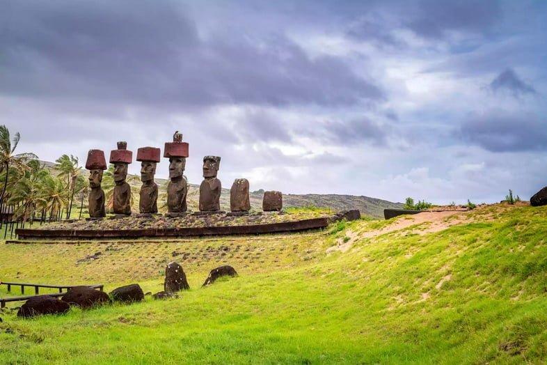 Монолитные статуи на острове Пасхи
