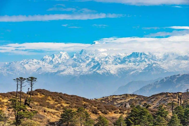 Гора Канченджанга из Сандакпху, Западная Бенгалия, Индия