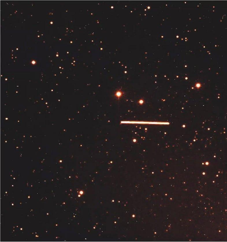 След астероида