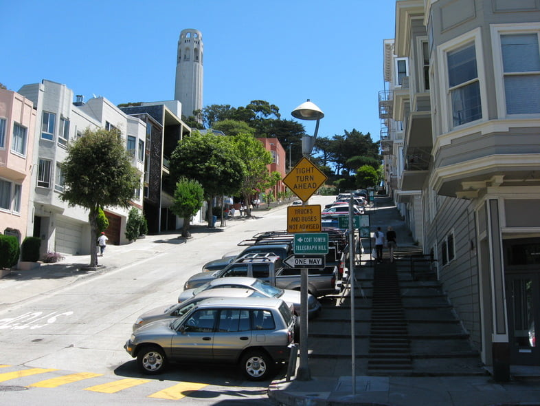 Филберт-стрит в Сан-Франциско, Калифорния, США