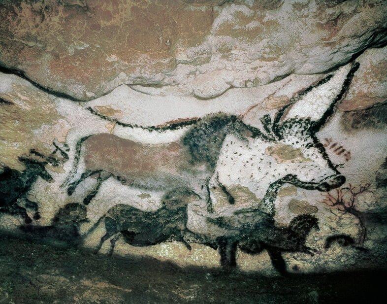 Наскальная картина животного в Гроте де Ласко