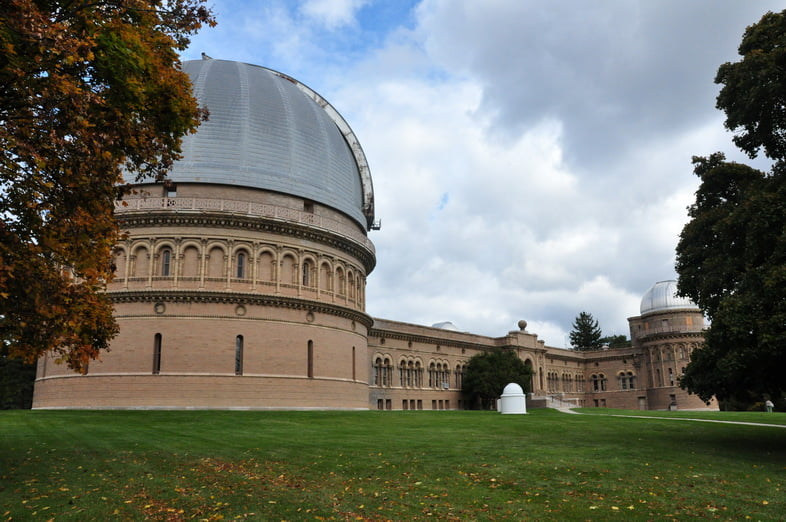 Йеркская обсерватория в Уильямс-Бей, штат Висконсин, США