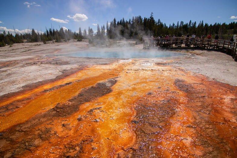 Микроорганизмы в перегретом горячем источнике