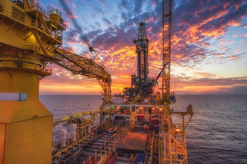 Морская буровая установка в Сиамском заливе