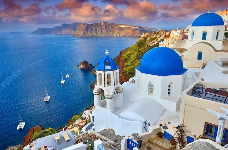 Фотография города Фира на острове Тира, Греция