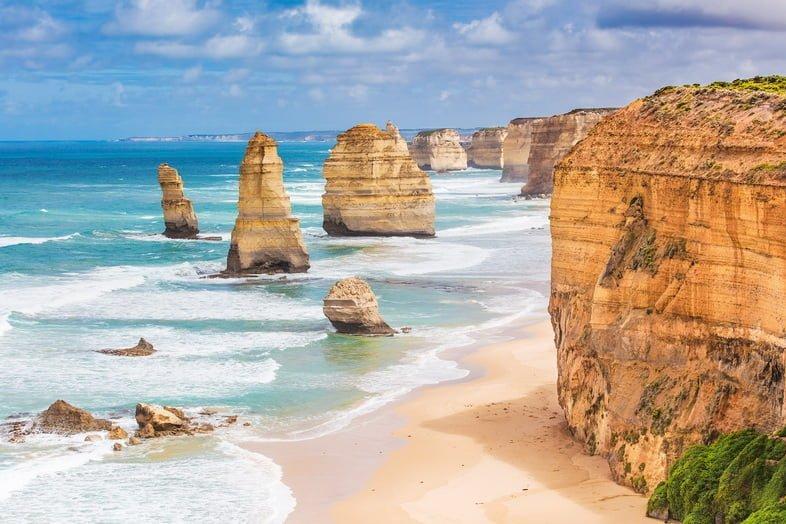Скальные образования Двенадцать Апостолов, Великая океанская дорога, Виктория, Австралия