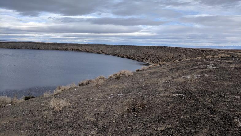 Содовое озеро в Неваде, США
