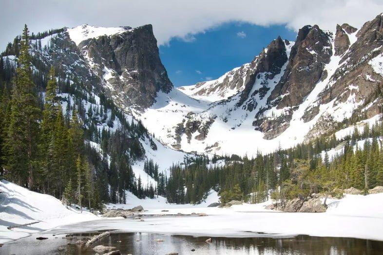 Озеро мечты в национальном парке Роки-Маунтин